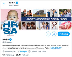 HRSA Twitter Example
